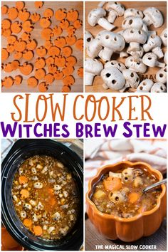 Slow Cooker Witches Brew Stew Crock Pot Soup, Slow Cooker Soup, Slow Cooker Recipes, Cooking Recipes, Crockpot Meals, Fall Recipes, Holiday Recipes, Soup Recipes, Holiday Foods