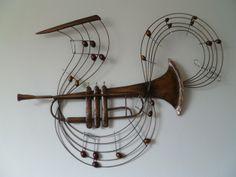 Perfect Wanddeko wanddeko metall trompete ein Designerst ck von Dekogifts bei DaWanda