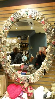 Beautiful Mirror made from a myriad of charms - Accessorize, Knightsbridge
