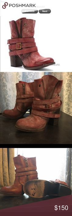 Freebird bama ankle boots Beautiful Freebird bama red leather ankle boots, like new condition! freebird Shoes Ankle Boots & Booties