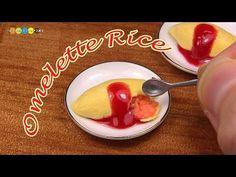 DIY Miniature Omelette Rice (Fake food) ミニチュアオムライス作り - YouTube
