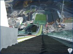 YIKES!!!  The view from the top of the Ski Jumping venue for Sochi 2014.