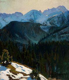 Stefan Filipkiewicz (1879-1944), Widok tatrzański. Tatry - widok z Kozińca, 1904, olej, płótno