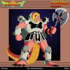 (Crocodine) Thirty years old, Crocodine is a massive anthropomorphic crocodile who is the leader of the Hundred Beasts Army. He was ordered by Hadlar to. Dragon Hunters, Dragon Quest, Manga Covers, Fire And Ice, Final Fantasy, Dragon Ball, Video Game, 3d Printing, Beast