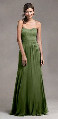 Another floor length from Jenny Yoo Collection.  Fern would also be a nice summer color.