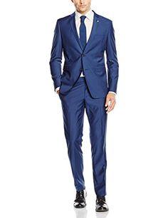 #ESPRIT #Collection #Herren #Anzug #076EO2M001, #Blau #(Blue #430), #44 ESPRIT Collection Herren Anzug 076EO2M001, Blau (Blue 430), 44, , Lässiger ESPRIT Anzug aus einem hochwertigen Mischgewebe - Puristisches Design mit einer aufwendigen  Innenverarbeitung - Zeitlose Reversform mit Zweiknopfverschluss vorne und seitlichen Schlitzen hinten - Unschlagbares Preis-/Leistungsverhältnis - Für jeden Anlass: Perfekt gekleidet!, Slim Fit: schlanker, moderner Schnitt mit einer betonten Tailierung…