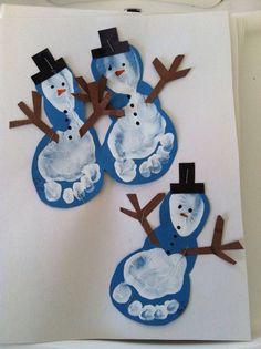 Christmas Crafts for infants Basteln Winter - christmascrafts Kids Crafts, Preschool Christmas Crafts, Daycare Crafts, Winter Crafts For Kids, Snowman Crafts, Baby Crafts, Holiday Crafts, Felt Crafts, Kids Diy
