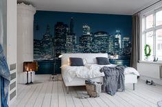 #wallpaper - Big Blue Apple - rebelwalls.com