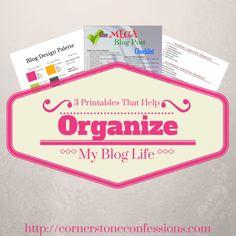3 Printables That Help Organize My Blog Life