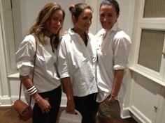 Laure Heriard Dubreuil, Garance Doré, Aurélie Bidermann all wearing white shirts at the Peter Lindbergh Opening at Vladimir Restoin-Roitfeld's !