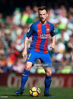 Ivan Rakitic of FC Barcelona in action during La Liga match between Real Betis Balompie and FC Barcelona at Benito Villamarin Stadium on January 29, 2017 in Seville, Spain.