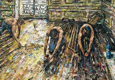 Vik Muniz, The Floor Scrapers after Gustave Caillebotte (Pictures of Magazine), 2011 © Vik Muniz - Courtesy galerie Xippas