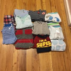 13 Piece Baby Boy Bundle 3 piece Baby Boy Carter's Hoodies (3 months), 3 outfits shirt and pants, 1 Carter's Boysuit, 2 shorts, 1 shirt by Carter's. All in good condition comes from a smoke and pet free home. These are all for 3 months old. Carters Other