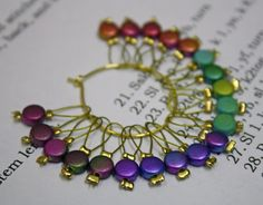 20 Knitting stitch markers coins