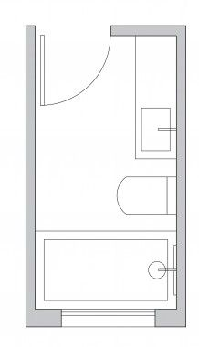 small narrow bathroom layout ideas | bathroom ideas | pinterest