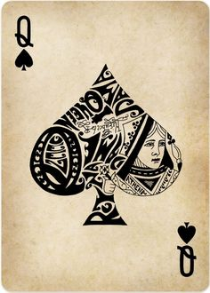 Cards queen of spades tattoo, magic playing cards, cool playing cards, play Queen Of Spades Tattoo, Spade Tattoo, Cool Playing Cards, Playing Card Design, Images Vintage, Deck Of Cards, Card Deck, Tarot Cards, Tattoo Inspiration