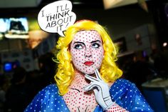 Roy Lichtenstein Pop Art Costume. This website has great Art inspired Halloween costume ideas.
