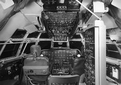 Flight deck of the Boeing Model 377 Stratocruiser. (Boeing)