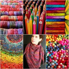 TFA Cosmic Blue Label in Kaleidoscope,coloured pencils,rainbow barn board,toy cars,Wex Shawl,rainbow felt balls.