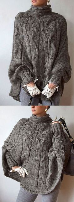Knitting Sweter For Women Neckline 28 Super Ideas Loose Sweater, Long Sleeve Sweater, Batwing Sleeve, Fall Outfits, Fashion Outfits, Womens Fashion, Fashion Top, Cardigans For Women, Pulls