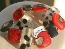 Fused chunk bracelet