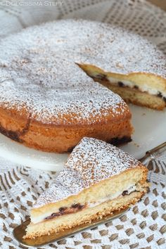 Torta versata Ricotta e Cioccolato Biscotti, Chocolate Cake, Tart, Buffet, French Toast, Food And Drink, Sweets, Breakfast, Ethnic Recipes