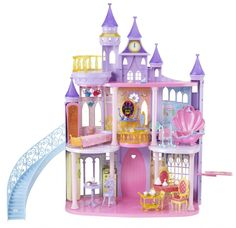 The Disney Princess Total Fairy Tale Castle Is one of the biggest and best dollhouses available. It's definitely the best Disney castle toy out. Toys For Girls, Kids Toys, My Little Kids, Castle Dollhouse, Disney Princess Castle, Cinderella Castle, Fairytale Castle, Barbie Toys, Disney Dolls
