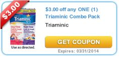 $3.00 off any ONE (1) Triaminic Combo Pack