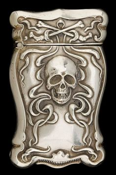 Gilbert Silver Match Safe, circa 1900.