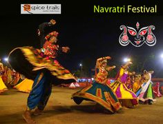 Navratri Festival Celebration India  #NavratriFestival is regarded as one of the most holy and revered festivals of the Hindus. Lasting for a period of nine days, the festival is dedicated to Goddess Shakti.  Enjoy this holy festival with Spice Trails - http://www.spicetrails.co.in/