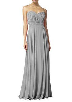 Huafeiwude Women's Sweetheart Chiffon Long Evening Dress Bridesmaid Prom Dress Grey US 4 Huafeiwude http://www.amazon.com/dp/B00YA2H6M4/ref=cm_sw_r_pi_dp_-JG2wb19NK0RW