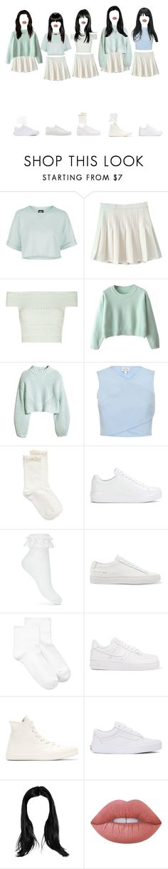 """ARIES _ YOUNG"" by xxeucliffexx ❤ liked on Polyvore featuring Topshop, Alexander McQueen, H&M, Hue, Prada, Miss Selfridge, Common Projects, NIKE, Converse and Vans"
