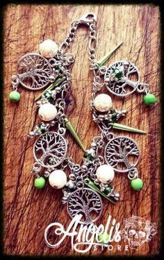 Tree of Life and Howlite Bead Charm Bracelet Tree Of Life, Charmed, Beads, Bracelets, Stuff To Buy, Jewelry, Beading, Jewlery, Jewerly
