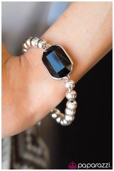 You Are a Gem - Black Item #: P9DA-BKSV-001AR A large black gem accentuates metallic silver beads along a stretchy band.  Sold as one individual bracelet.