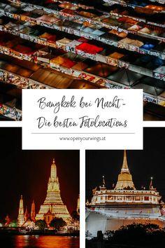Am Tag ist Bangkok beeindruckend, bei Nacht ist es magisch. Meine Fotolocations für Bangkok bei Nacht verraten dir die magischten Plätze! Ko Samui, Chiang Rai, Krabi, Bangkok, Travel Inspiration, Thailand, Hotels, Tower, Nature