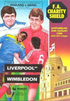 Liverpool v Wimbledon, Charity Shield Programme 1988