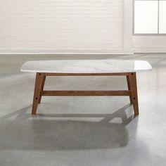 Amazon.com: Sauder Soft Modern Cocktail/Coffee Table in Fine Walnut Finish: Kitchen & Dining