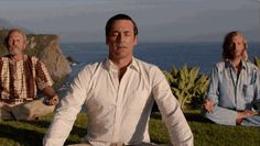 After seven seasons, AMC& beloved Mad Men aired its season finale, revealing the fates and futures of Don Draper (Jon Hamm) et al -- read Us& recap! Don Draper, Mad Men, Jon Hamm, Learn To Meditate, New Politics, Ex Wives, Happy Endings, Screenwriting, Everyone Else