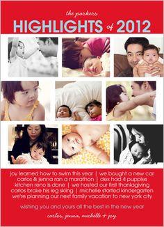 Family Highlights Christmas Card by Petite Lemon | Shutterfly - I like this idea :)