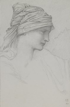 study for the head of the goddess fortune