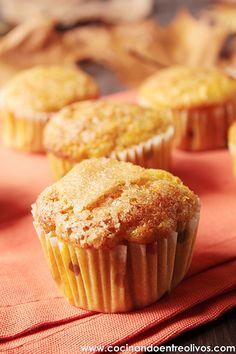 Magdalenas de calabaza (10) Muffins, Bakery, Cupcakes, Cooking, Breakfast, Sweet, Grande, Food, Crepes