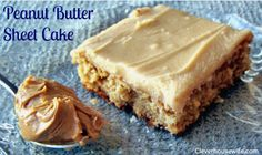 Love cake? What about peanut butter? You'll LOVE this Peanut Butter Sheet Cake! The frosting is superb!