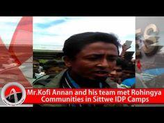 Mr.Kofi Annan and his team met Rohingya Communities in Sittwe IDP Camps