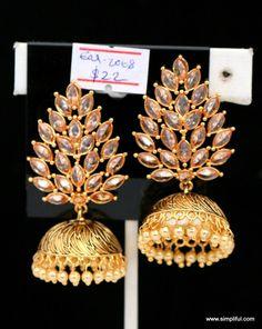 Stylish Feather Stud Jhumka Earring