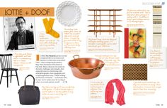 Love the white cube plate and the copper pot. January / February 2013 - Lonny Magazine - Lonny