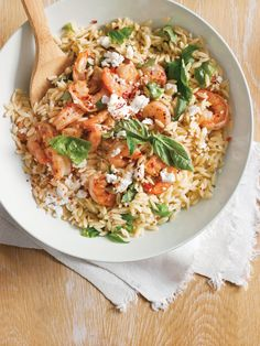 Orzo with Feta, Basil and Shrimp | Williams Sonoma