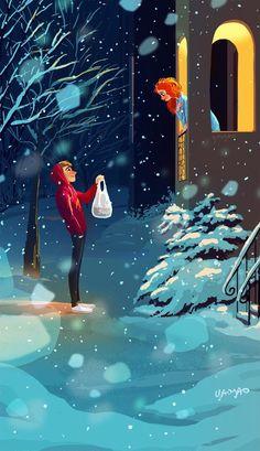 Beautiful art illustrations by Yaoyao Ma Van As Art Shared by Veri Apriyatno Artist . Cartoon Kunst, Anime Kunst, Cartoon Art, Anime Art, Art And Illustration, Website Illustration, Art Illustrations, Fantasy Kunst, Fantasy Art