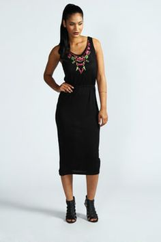 Alesha colour block maxi dress