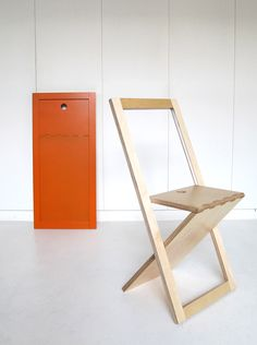 WM Chair: Silla Plegable De Contrachapado Del Estudio Francés WoodMood