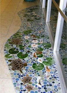 Thinking of doing a rat mosaic on the floor where we have ugly tile now. Just checking out random mosaics.